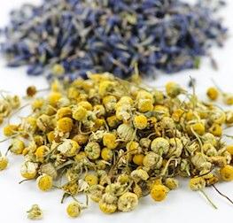 Kamillen- und Lavendelblüten in Arzneimittelqualität